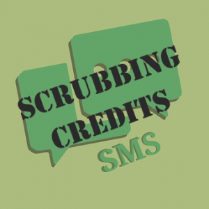 Scrubbin Credit SMS with green background